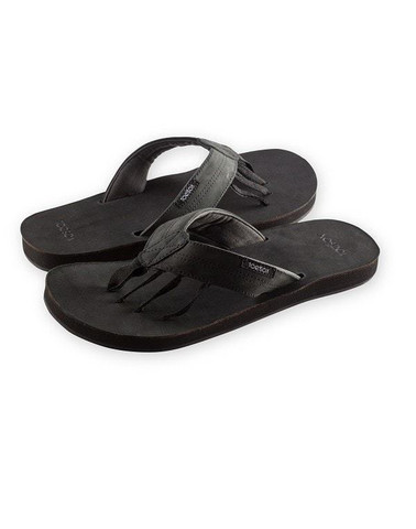 f68c4fefc5040 ToeSox - Encino Leather Mens Five Toe Sandals - AlignPilates.fi