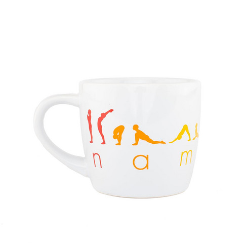 YogiMug Ceramic Mug Happy Namaskar