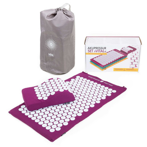 Acupressure Set VITAL, incl. mat, pillow and carry bag