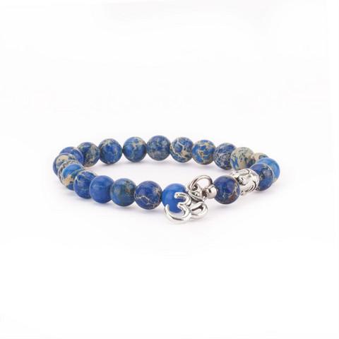 Mala bracelet, blue jasper (fashion jewelry)