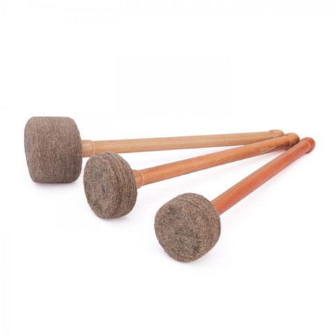 Felt mallet for singing bowls