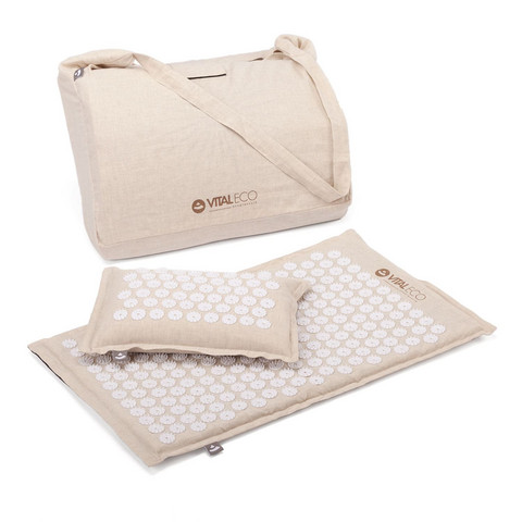 Acupressure Set VITAL ECO, incl. mat, pillow and carry strap
