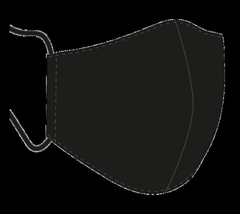 Ergonomisesti muotoiltu 3-kerroksinen kasvomaski, musta