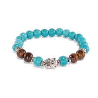 Mala bracelet - Turquoise and Tiger Eye
