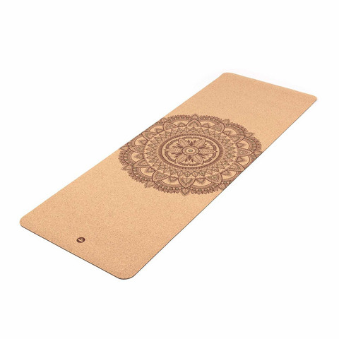 Yoga mat Cork, MANDALA two-tone, 4 mm
