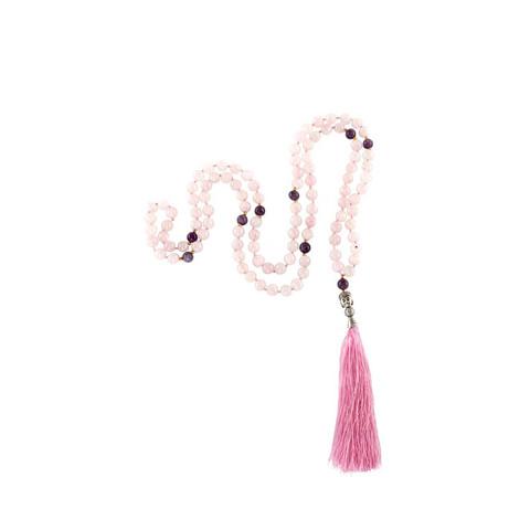 Mala - Rose Quartz and Amethyst, 108 beads