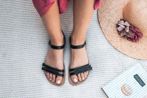 Be Lenka - Summer, nahkaiset paljasjalkasandaalit