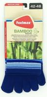 Feelmax - Bambu varvassukat, raidallinen