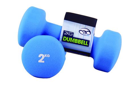 Fitness Mad - Neopreeni Käsipainot, 2,0 kg
