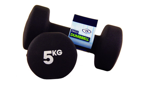 Fitness Mad - Neopreeni Käsipainot, 5,0 kg