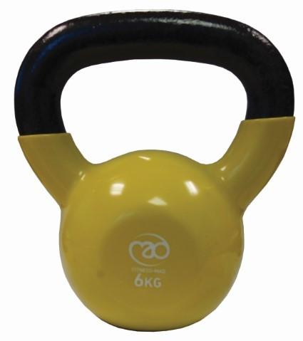 Fitness Mad - Kahvakuula 6 kg, keltainen