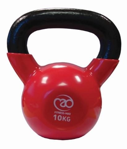 Fitness Mad - Kahvakuula 10 kg, punainen