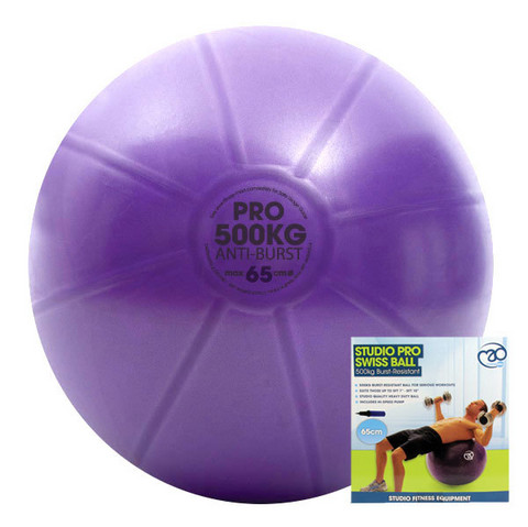 Fitness Mad - Fitnesspallo, 65 cm, 500 kg + pumppu