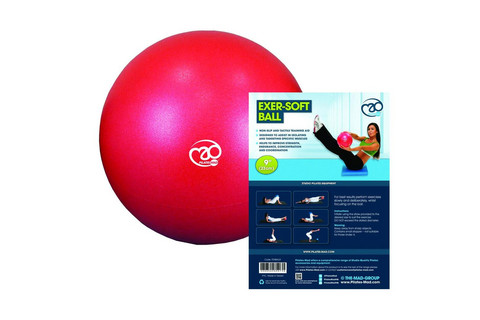 Pilates Mad - 9'' Exer-Soft Ball, Red