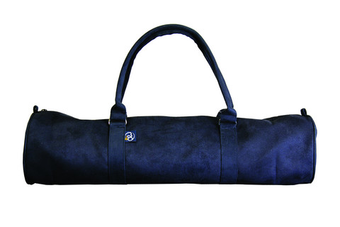 Suede Yogi Mat Bag Black