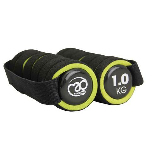 Fitness Mad - Pro käsipaino, 2 x 1,0 kg, vihreä