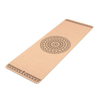 Yoga mat Cork, ETHNO MANDALA, 4 mm