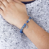 Mala bracelet, blue jasper (fashion jewelry)