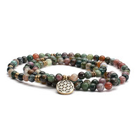 Mala long bracelet, indian agate
