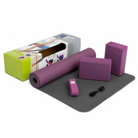 Yoga Set Flow, incl. yoga mat with brick and strap