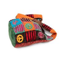 Om Shanti Bag - Patchwork Hippie Bag, multicolour