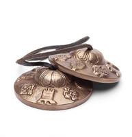 Tiibetiläiset symbaalit ornamenttikoristein 7,5 cm