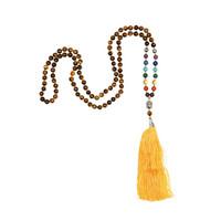 Mala -  7 Chakras Tiger Eye, 108 beads