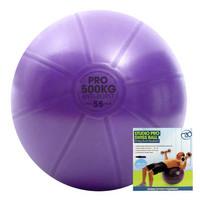 Fitness Mad - Fitnesspallo, 55 cm,  500 kg + pumppu