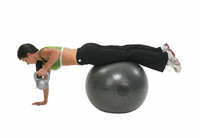 Fitness Mad - Fitnesspallo, 65 cm, 500 kg, harmaa