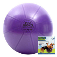 Fitness Mad - Fitnesspallo, 75 cm, 500 kg + pumppu