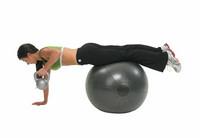 Fitness Mad - Fitnesspallo, 75 cm, 500 kg, harmaa