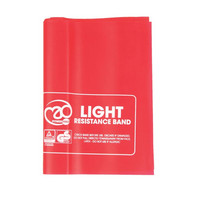Fitness Mad - Resistance Band, Light, 150 x 15 cm, 10 pcs & Guide