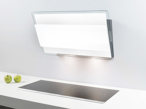 Savo eCH-6908-W liesituuletin 80 cm seinämalli EC-huippuimurille valkoinen LED 97031