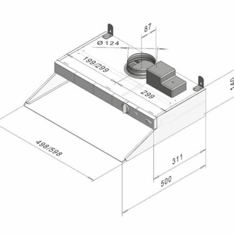 Vallox X-Line PTXPA MC 500 mm valkoinen