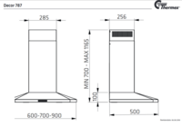 Thermex Decor 787 liesituuletin 60cm omalla moottorilla
