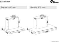 Thermex Super Silent GT liesituuletin 600mm musta/RST huippuimurille