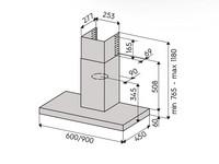 Savo CH-6506-S liesituuletin 60cm seinämalli RST LED 90357