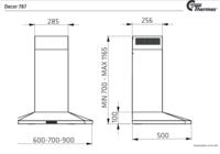 Thermex Decor 787 liesituuletin 70cm ilmanvaihdon ohjaukseen