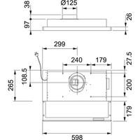 FRANKE SLIMLINE F392-14 B4 EC 60CM EC-HUIPPUIMURILLE TAI ILMANVAIHDON OHJAUKSEEN