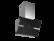 Thermex Mini Preston II seinä 600mm musta/rst ulkoiselle moottorille