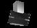 Thermex Mini Preston II seinä 800mm musta/rst ulkoiselle moottorille