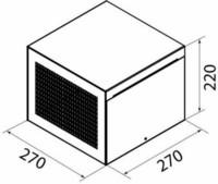 Thermex Asennuskotelo Plasmex suodatin Vertical/yläkaappi musta
