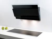 Savo eCH-6908-B seinäliesituuletin 80 cm EC-huippuimurille musta LED 97032