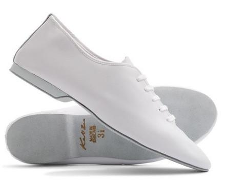 Katz Jazz Dance Shoe, haljasnahka pohja, Valkoinen
