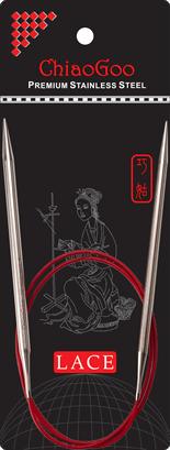 Chiaogoo Red Lace circular needles 120 cm