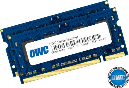 OWC Memory 8GB KIT (2 x 4GB) SO-DIMM PC3-8500 1066MHz