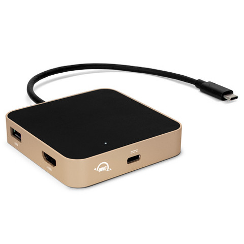 OWC USB-C Travel Dock | Gold