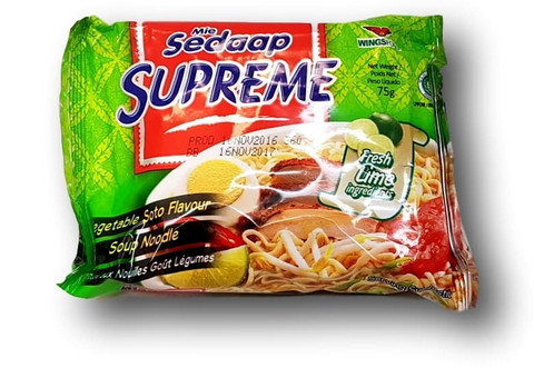 Supreme Vegetable Soto Flavor Soup Noodle