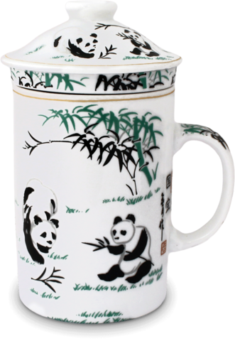 Ceramic Tea Cup with Filter Panda