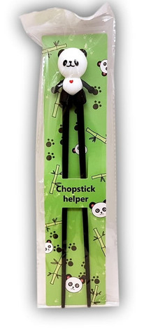 Children practice chopstick Panda